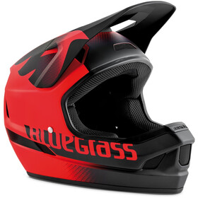 bluegrass Legit Helmet red/black texture matte